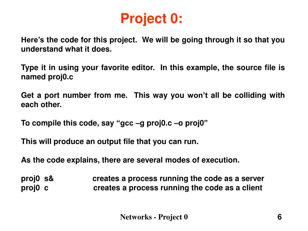 Project 0: