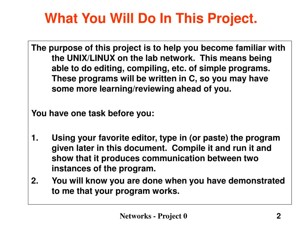 What You Will Do In This Project.