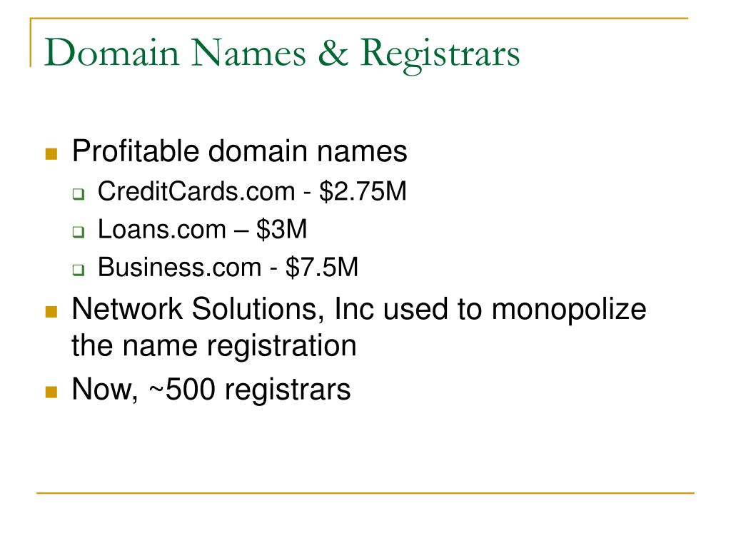 Domain Names & Registrars