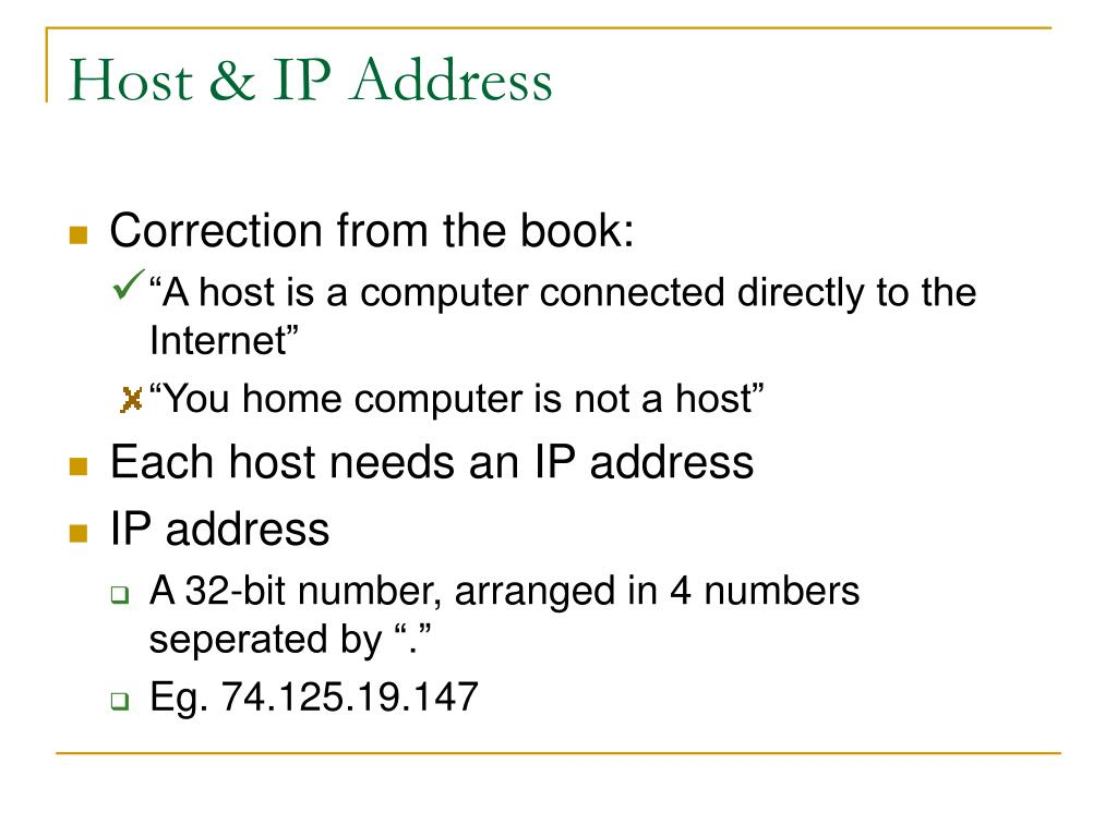 Host & IP Address