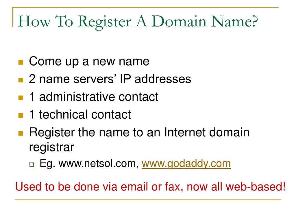 How To Register A Domain Name?