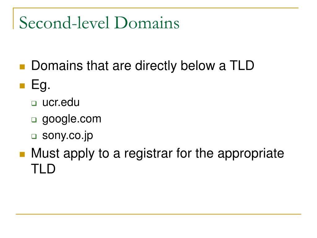 Second-level Domains