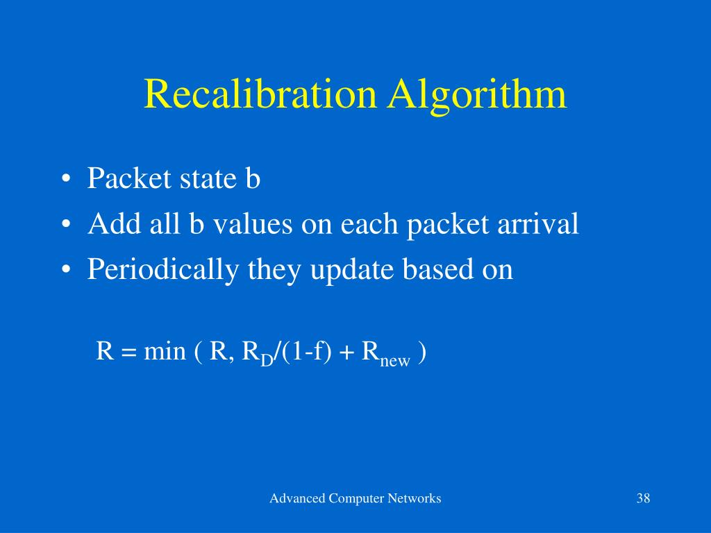 Recalibration Algorithm