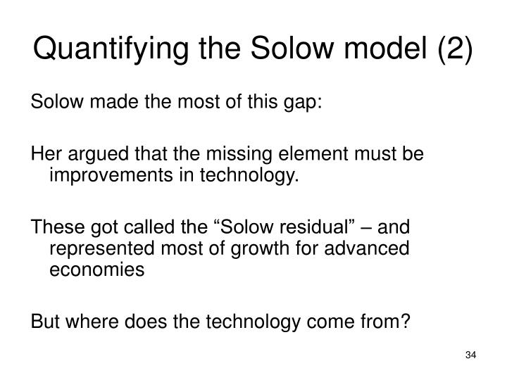 Quantifying the Solow model (2)