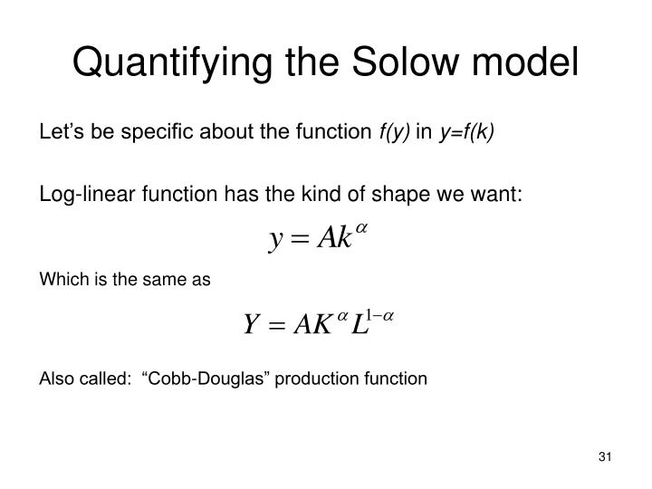 Quantifying the Solow model