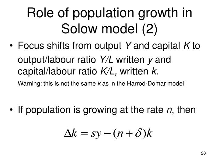 Role of population growth in Solow model (2)
