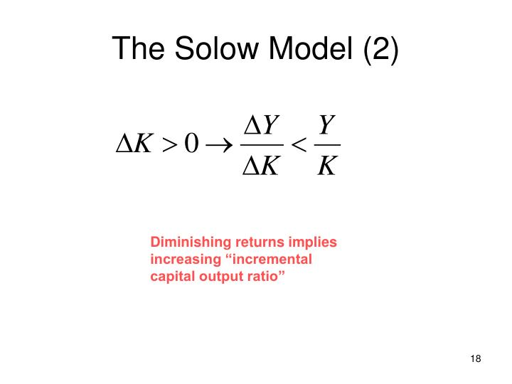 The Solow Model (2)