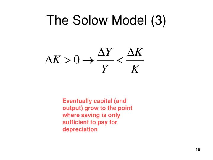 The Solow Model (3)