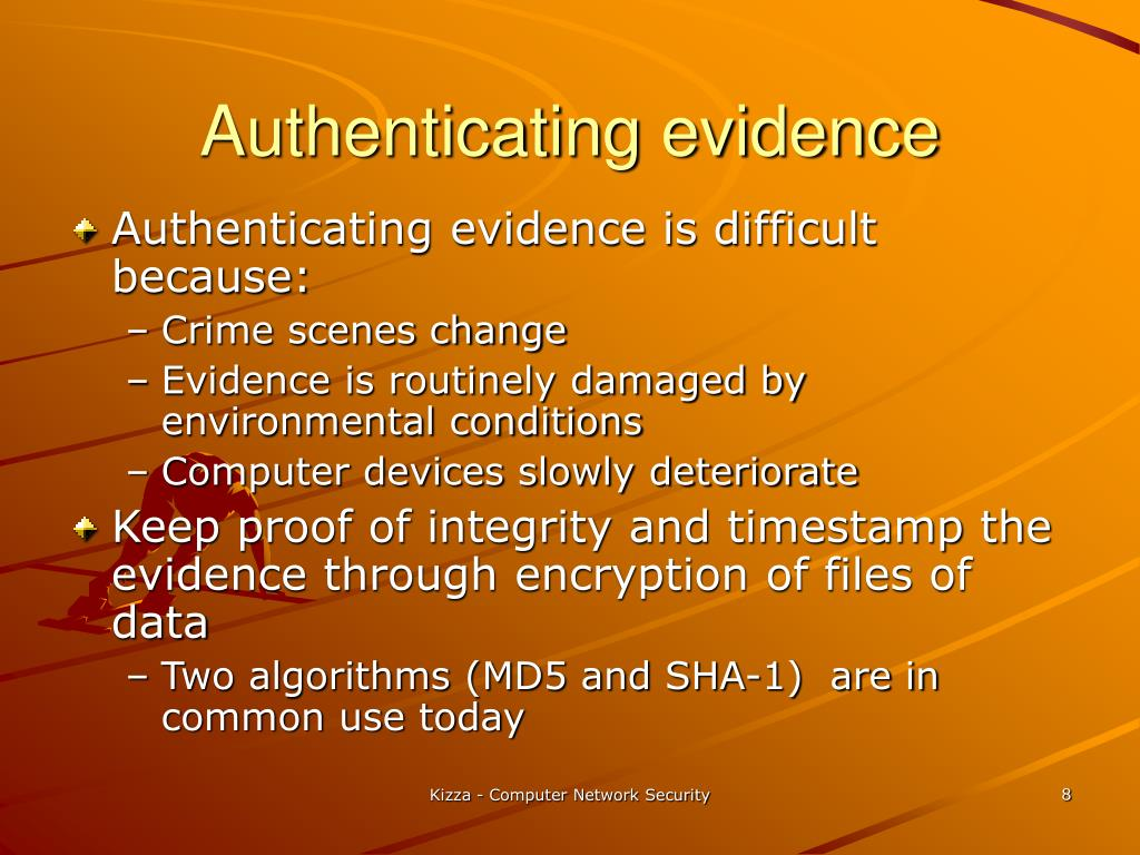 Authenticating evidence