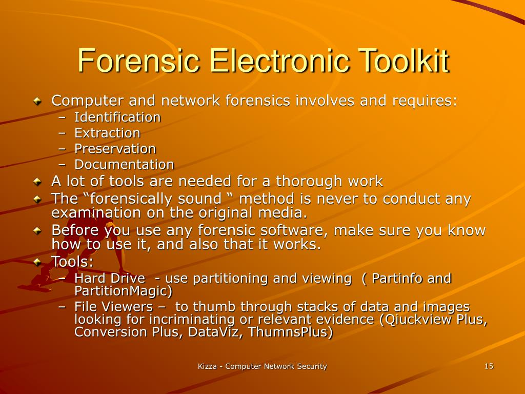 Forensic Electronic Toolkit