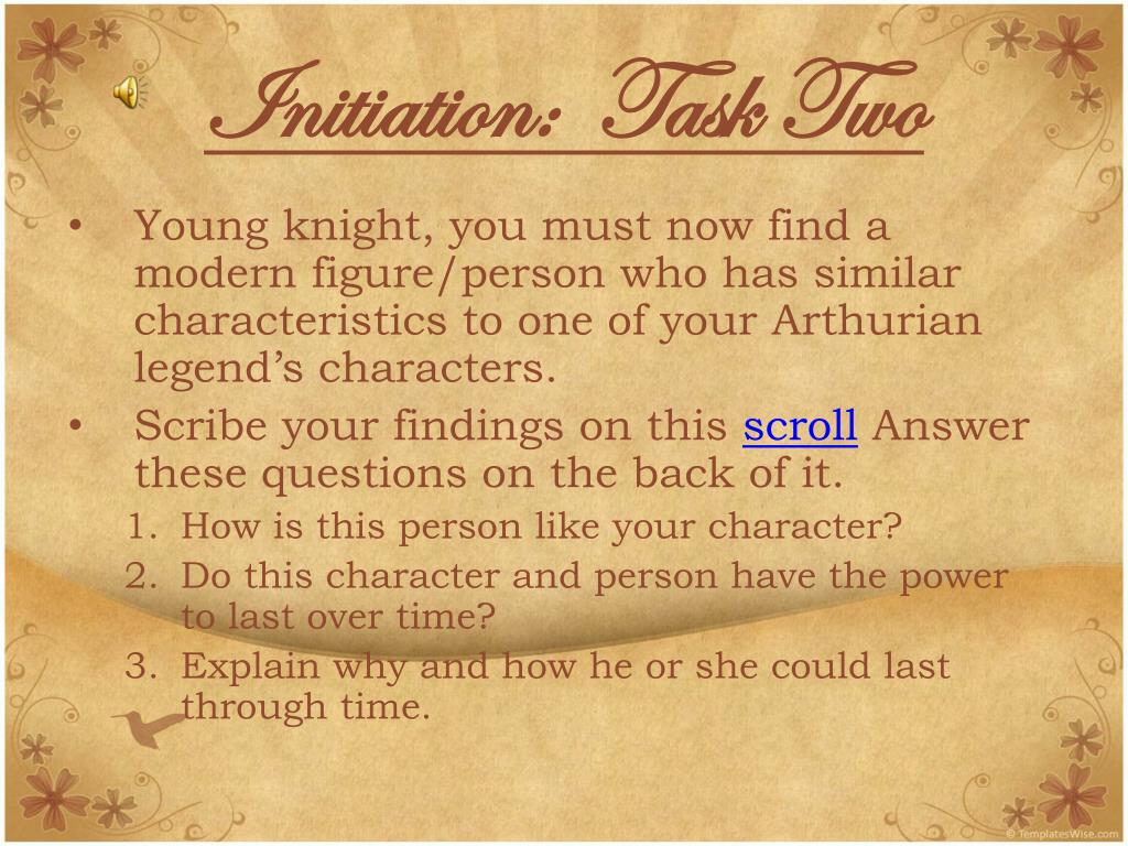 Initiation:  Task Two