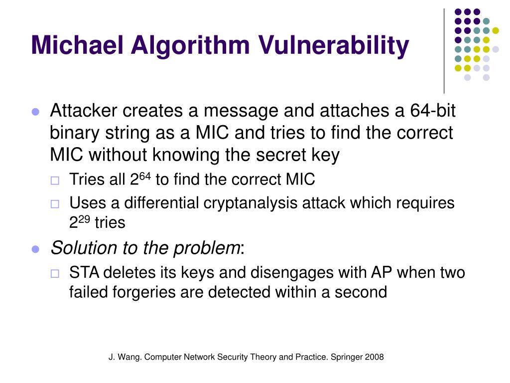 Michael Algorithm Vulnerability