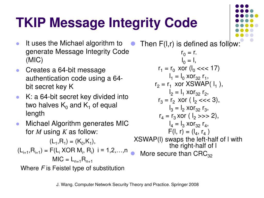 TKIP Message Integrity Code