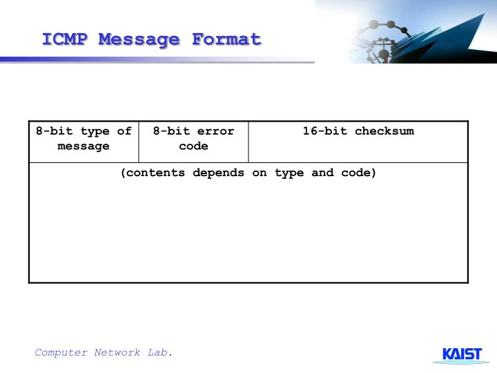 ICMP Message Format