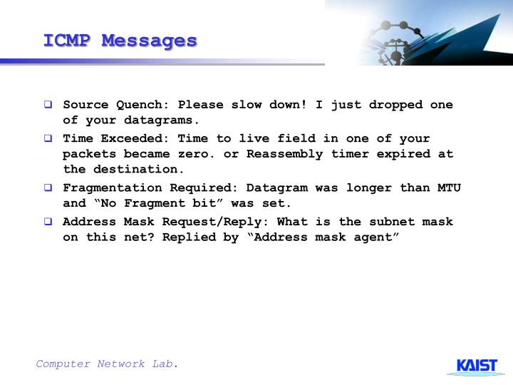 ICMP Messages