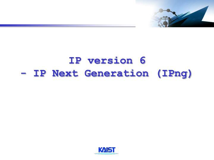 IP version 6