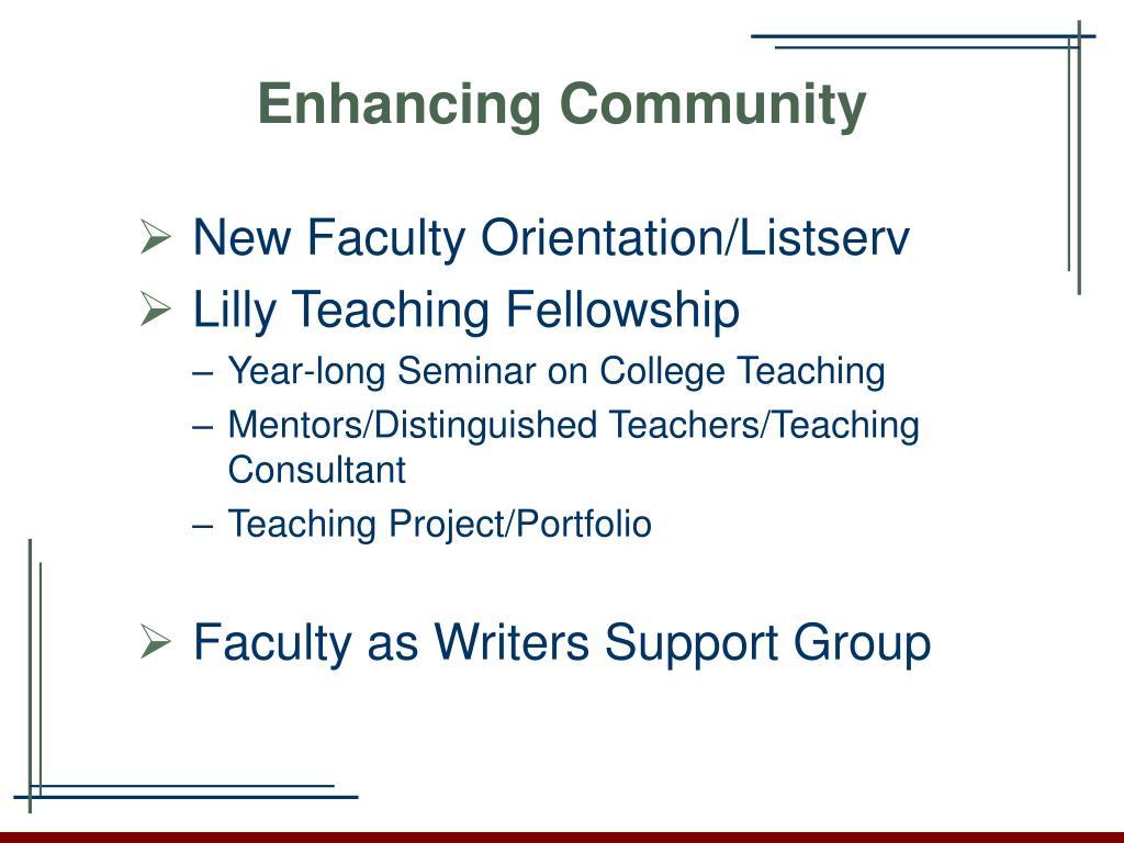 Enhancing Community