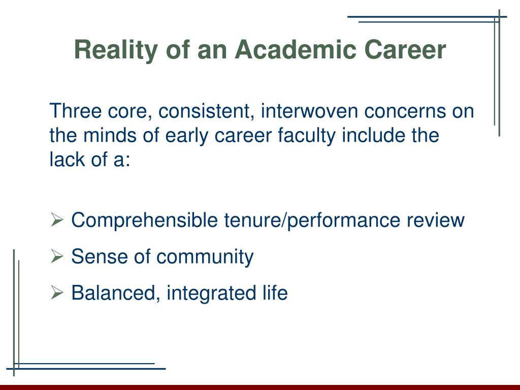 Reality of an Academic Career