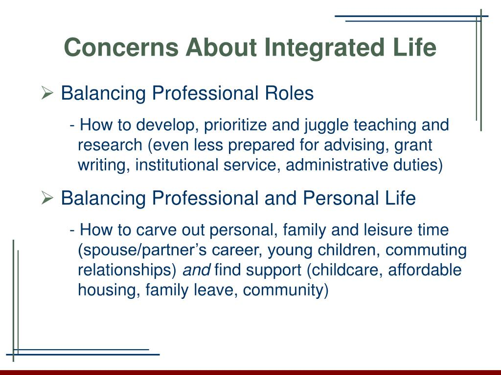 Concerns About Integrated Life