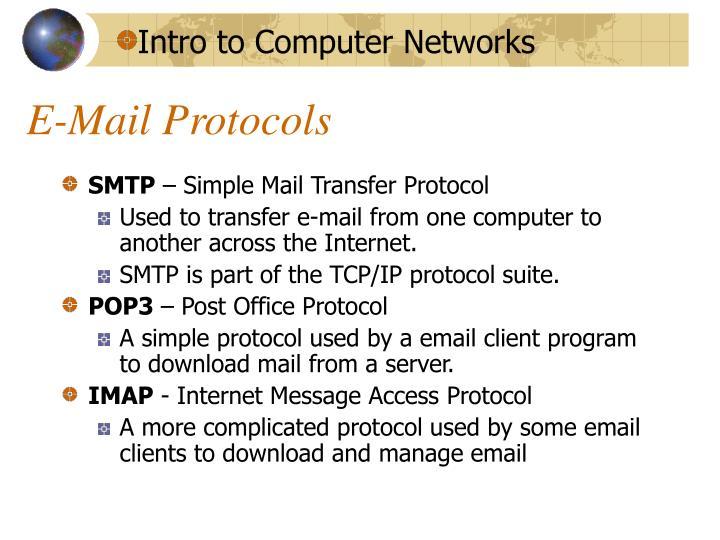 E-Mail Protocols
