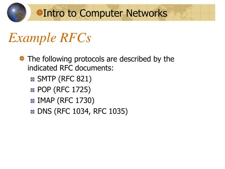 Example RFCs