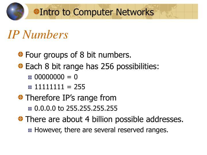 IP Numbers