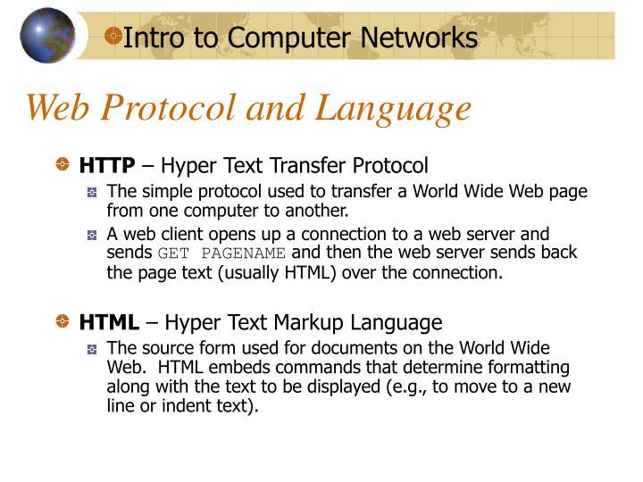 Web Protocol and Language