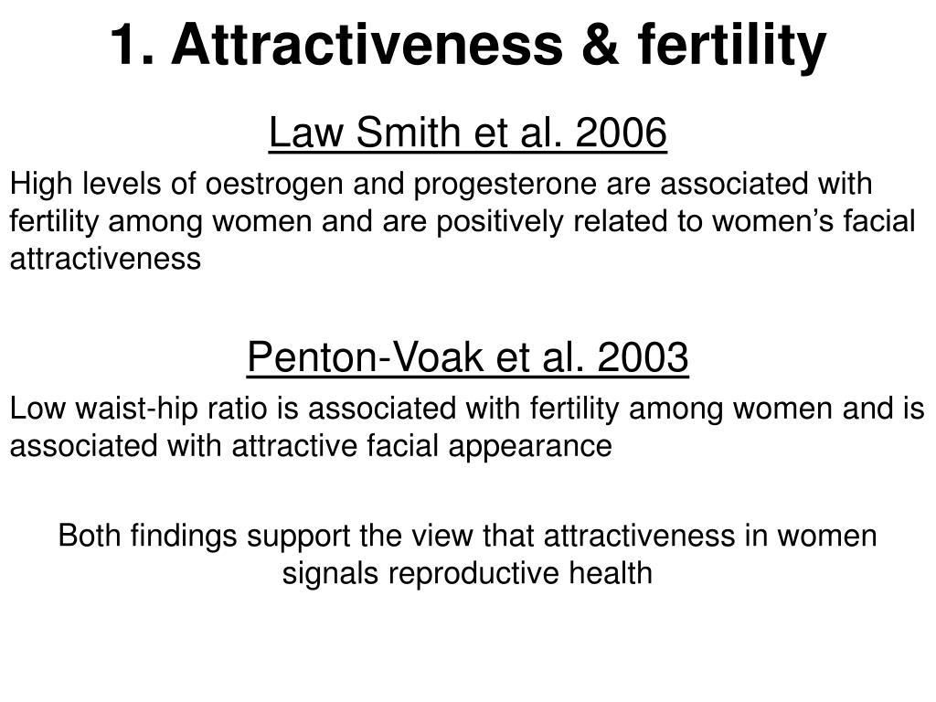 1. Attractiveness & fertility