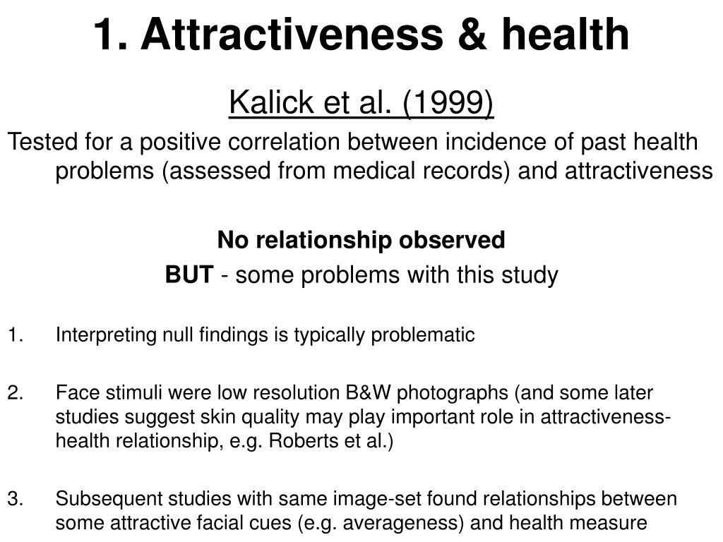 1. Attractiveness & health