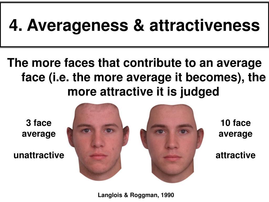 4. Averageness & attractiveness