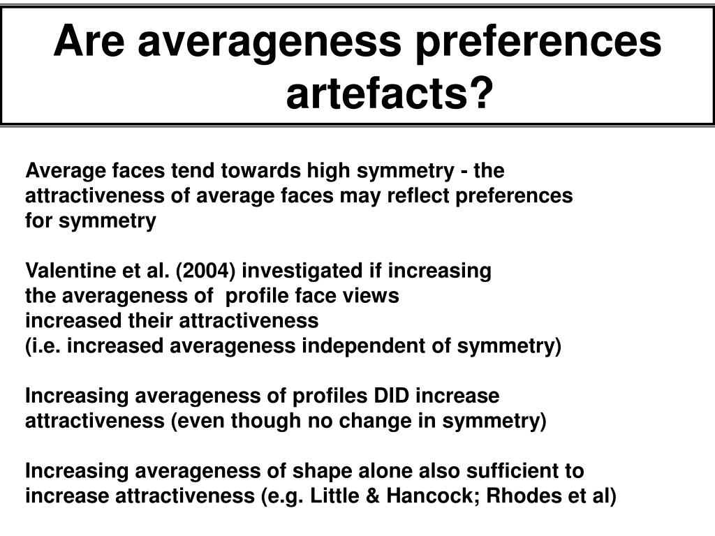 Are averageness preferences artefacts?