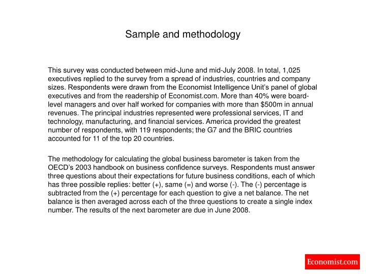 Sample and methodology