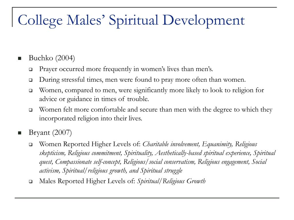College Males' Spiritual Development