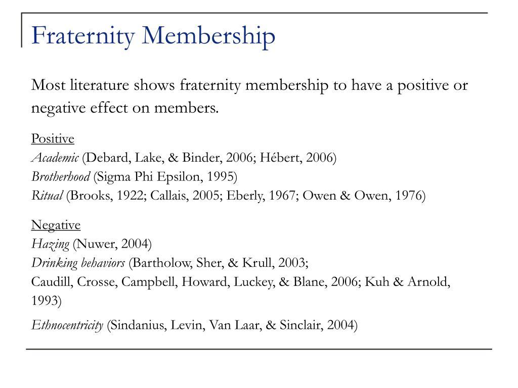 Fraternity Membership