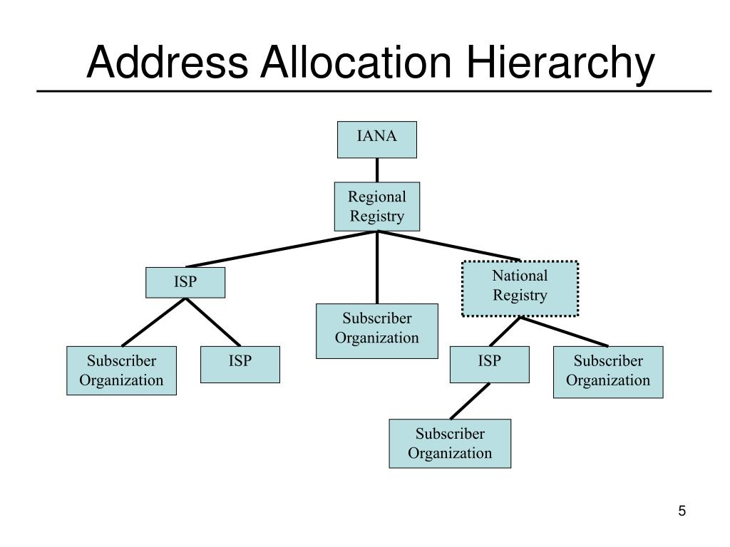 Address Allocation Hierarchy