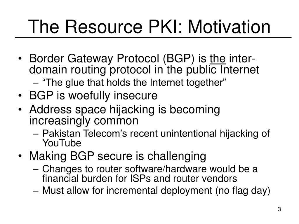 The Resource PKI: Motivation
