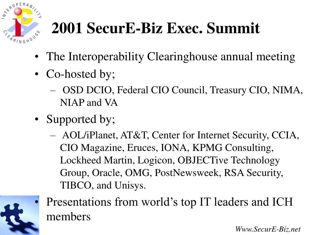 2001 SecurE-Biz Exec. Summit