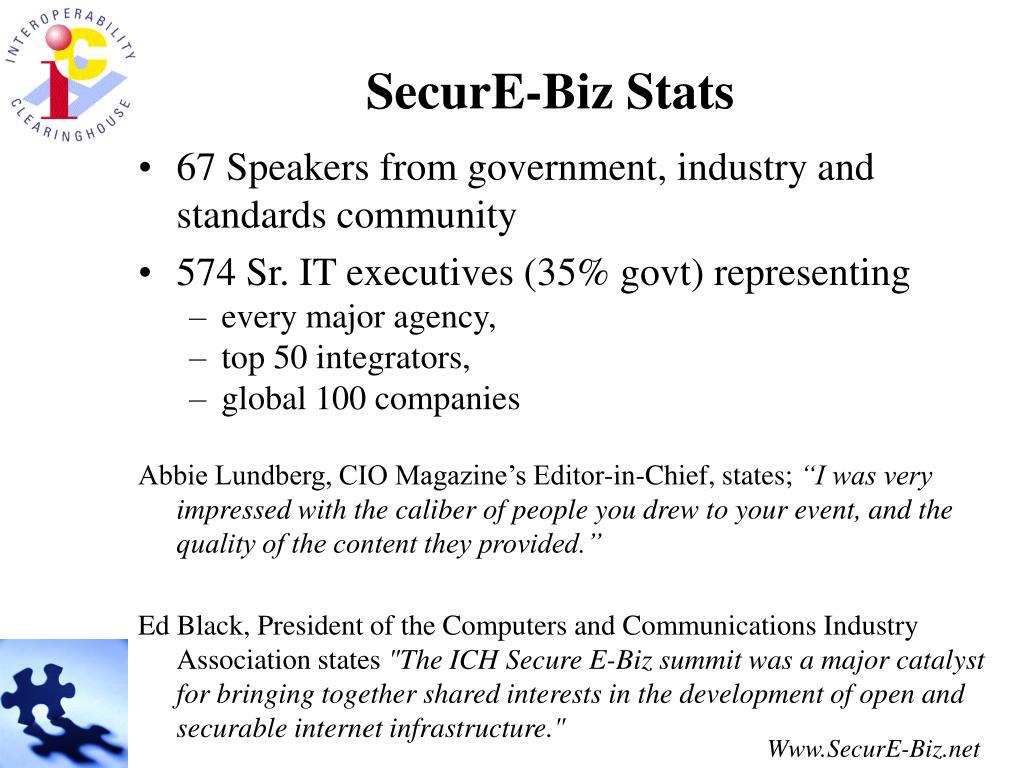 SecurE-Biz Stats