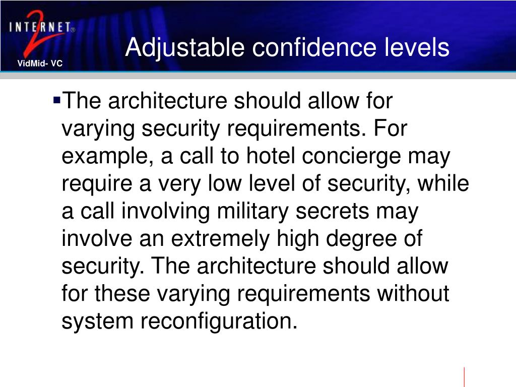 Adjustable confidence levels