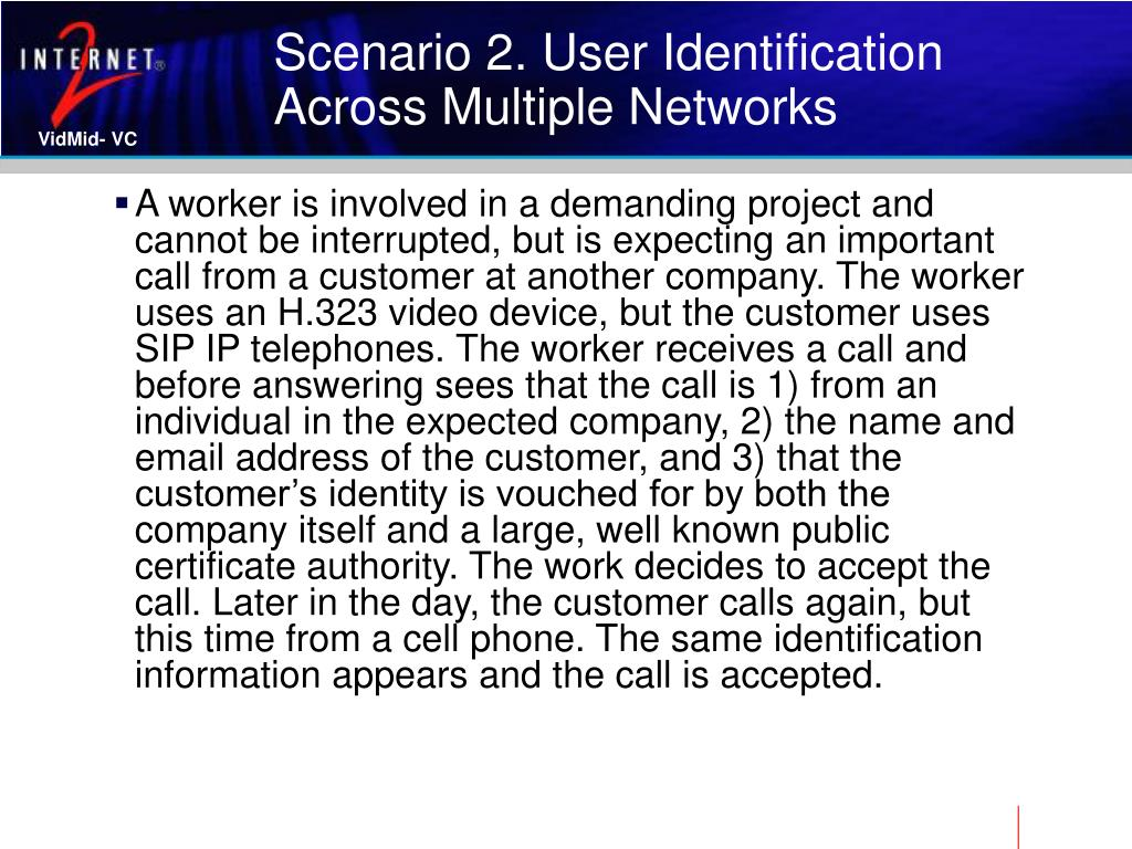Scenario 2. User Identification Across Multiple Networks