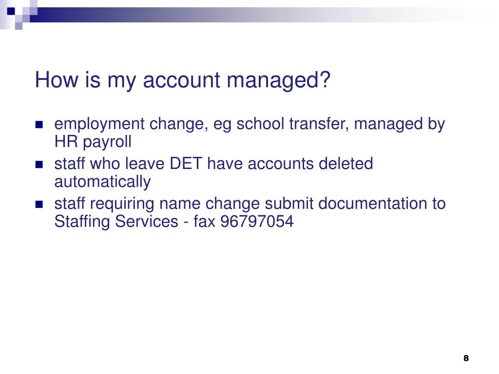 How is my account managed?