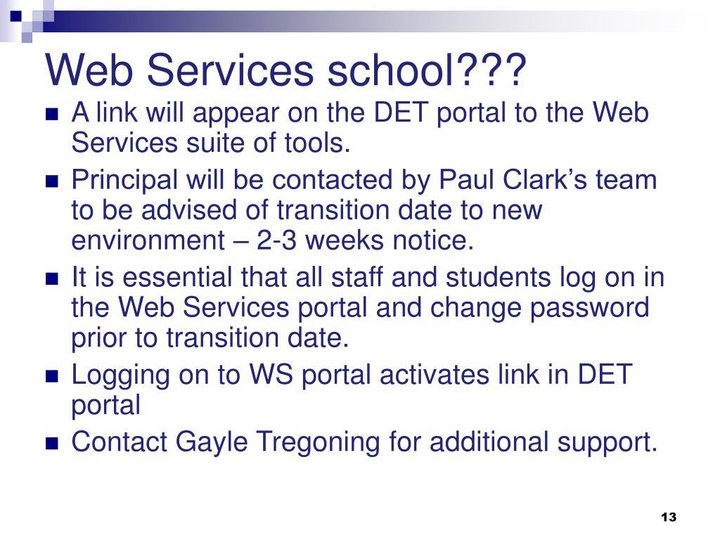 Web Services school???