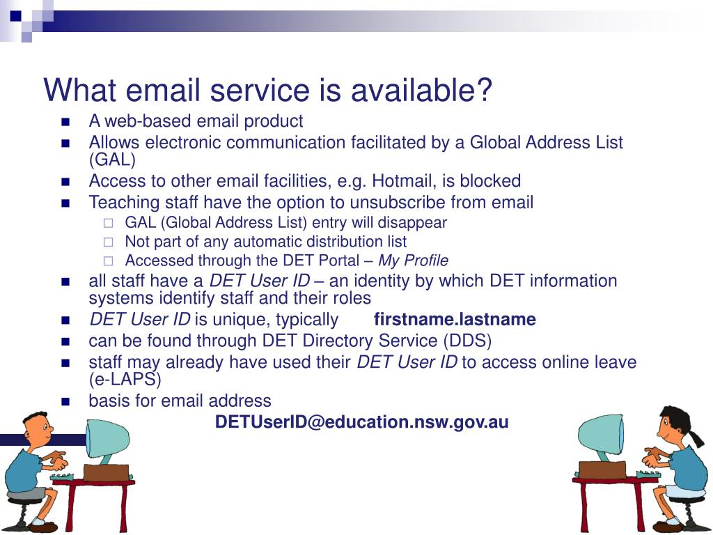 What email service is available?