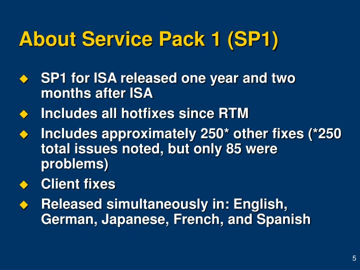 About Service Pack 1 (SP1)