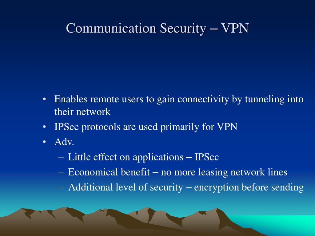 Communication Security