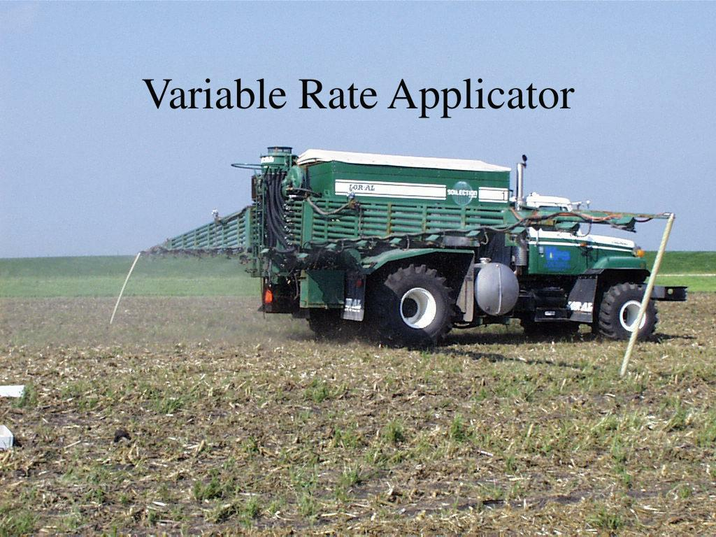 Variable Rate Applicator