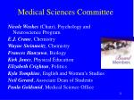 medical sciences committee