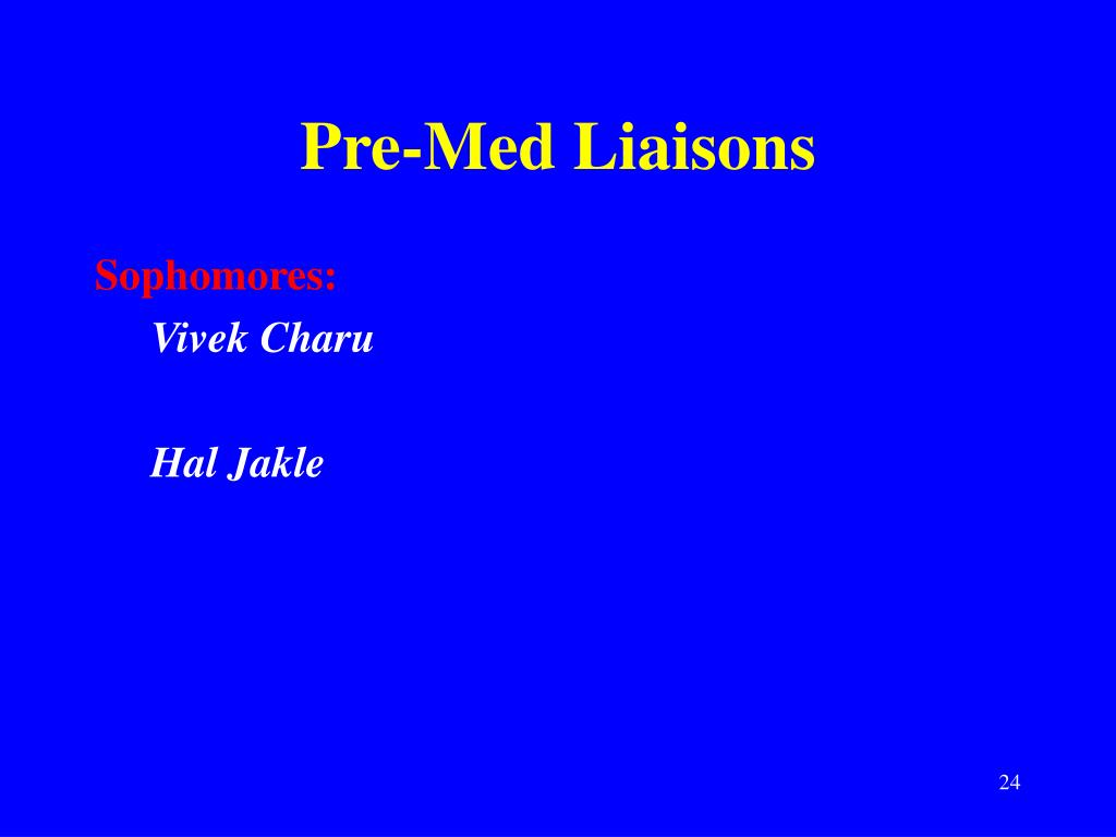 Pre-Med Liaisons