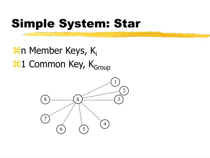 Simple system star