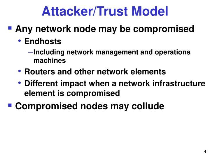 Attacker/Trust Model